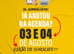Anote na agenda: dias 3 e 4 é eleição do Sindicato