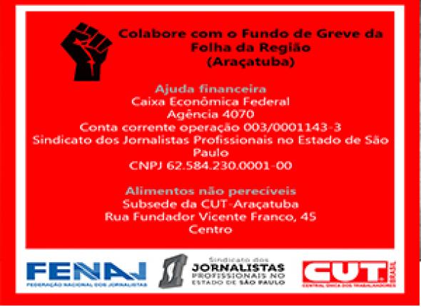 Fundo de greve: Folha da Região, em Araçatuba