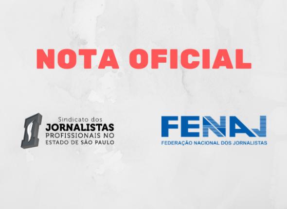 SJSP apoia nota da Fenaj que denuncia agressões a Vera Magalhães e escalada autoritária do governo Bolsonaro