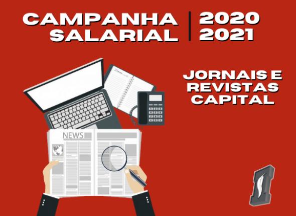 Jornais e Revistas da Capital: patrões propõem a reposição da inflação de 2,05% para salários até R$ 10 mil e reajuste zero para as demais cláusulas econômicas