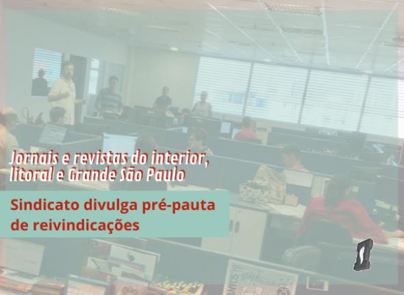 Sindicato convoca categoria para preparar pauta de reivindicações de jornais e revistas do interior
