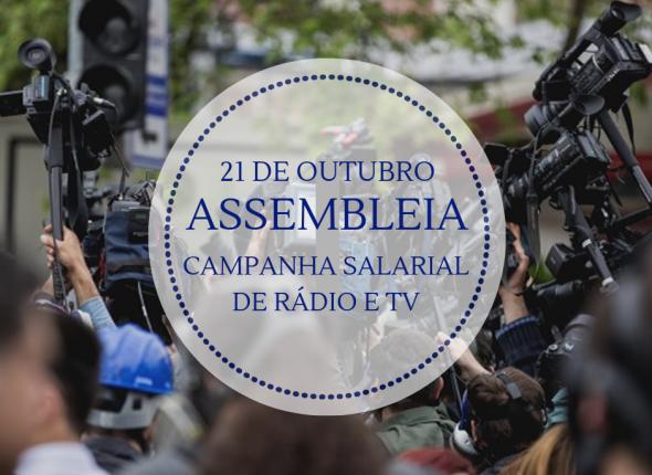 Sindicato convoca jornalistas de rádio e TV para assembleia da Campanha Salarial
