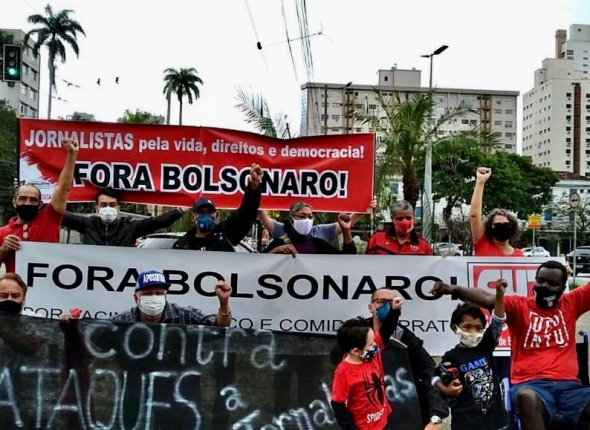 Visita de Bolsonaro impulsiona ataques a jornalistas no interior e litoral de SP