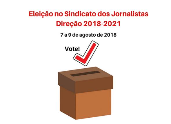 Participe da eleição do Sindicato dos Jornalistas