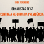 Sindicato na greve contra a reforma previdenciária