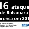 2019 se encerra com 116 ataques de Bolsonaro à imprensa