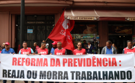 Ato contra a reforma da Previdência movimenta o centro de São Paulo