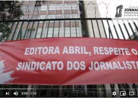 Ato da campanha #AbrilRespeiteOSindicato