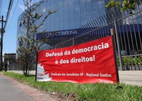 Ato da Campanha Salarial Rádio e TV 2020-2021 - Santos