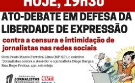 Ato-debate em defesa da liberdade de expressão é nesta segunda-feira (6)
