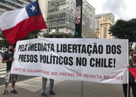 Ato Público pela libertação dos presos políticos no Chileem 2019