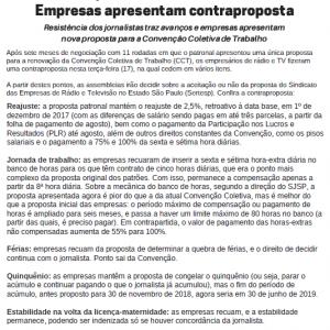 Boletim Mural 1272 - Campanha Salarial de Rádio e TV 2017-2018
