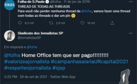 Campanha Salarial de Jornais e Revistas da capital dá o tom das reivindicações dos jornalistas no twitter