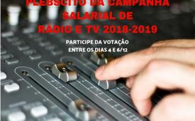 Campanha Salarial de Rádio e TV: empresas propõem reajuste pela inflação e renovação da Convenção