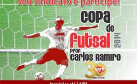 Copa de Futsal Prof. Carlos Ramiro: inscrições até 14/02