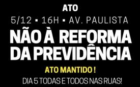 CUT São Paulo convoca trabalhadores para ato na Av. Paulista nesta terça (5)