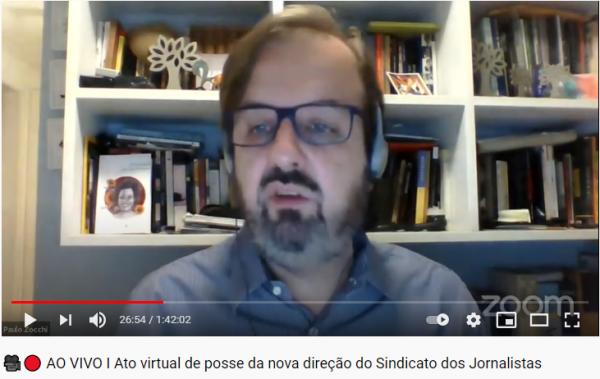 Durante ato virtual de posse da nova diretoria do SJSP, Paulo Zocchi fez um balanço da última gestão