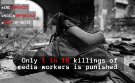 Federação Internacional dos Jornalistas lança campanha contra a impunidade