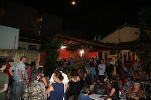 Galinhada Solidária foi um dos eventos para arrecadar recursos ao fundo de greve. Foto: Cadu Bazilevski/SJSP