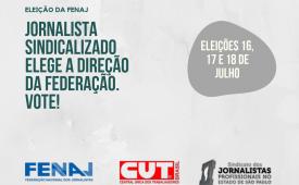 Jornalista sindicalizado elege a direção da Federação