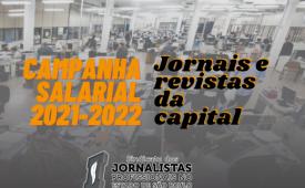 Jornalistas enviam carta às empresas na Campanha Salarial de Jornais e Revistas da Capital