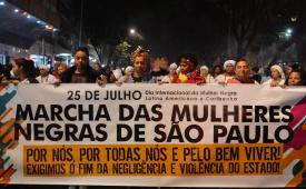 Mulheres negras marcham em SP contra Estado genocida