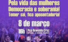 Mulheres ocupam Paulista no 8 de março em defesa da democracia