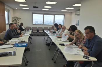 Negociação na sede do Sertesp, na zona oeste paulistana. Foto: Flaviana Serafim/SJSP
