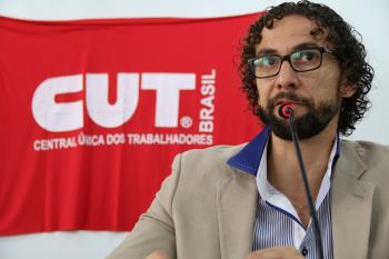 Raphael da Silva Maia, coordenador jurídico do Sindicato. Foto: Cadu Bazilevski/SJSP