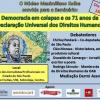 Seminário sobre democracia celebra 71 anos da Declaração Universal dos Direitos Humanos