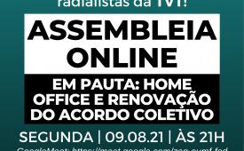 Sindicato convoca jornalistas e radialistas da TVT para assembleia online