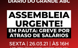 Sindicato convoca jornalistas para assembleia do Diário do Grande ABC