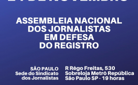 Sindicato dos Jornalistas de SP convoca categoria para debater a MP 905/2019