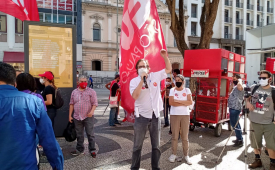 Sindicato dos Jornalistas no Estado de São Paulo participa de ato contra reforma administrativa