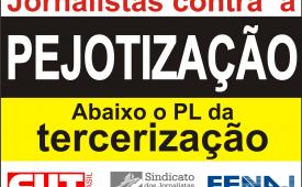 Sindicato participa de ato contra o PL da Terceirização na Paulista