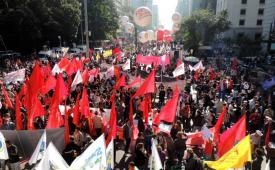 Trabalhadores deram 'show de organização', diz presidente da CUT